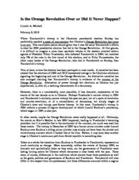thumnail for Is_the_Orange_Revolution_Over.pdf