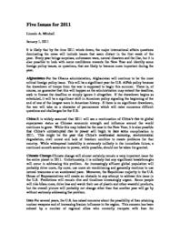 thumnail for Five_Issues_for_2011.pdf