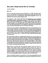 thumnail for Bin_Laden_s_Death_and_the_War_on_Terrorism.pdf