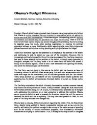 thumnail for Obama_s_Budget_Dilemma.pdf