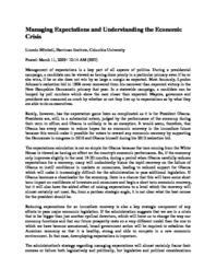 thumnail for Managing_Expectations_and_Understanding_the_Economic_Crisis.pdf