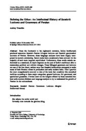 thumnail for Truschke_Defining_the_Other_2012.pdf