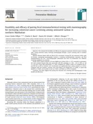 thumnail for Hillyer_Feasibility_PrevMed2011.pdf