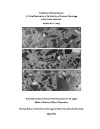 thumnail for Lowry_R_HPThesis__In_Defense_of_Natural_Cement_2013.pdf