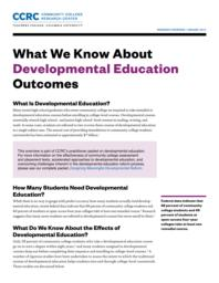 thumnail for what-we-know-about-developmental-education-outcomes.pdf