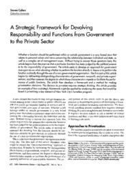 thumnail for CohenArticle-StrategicFrameworkForDevolvingResponsibilityAndFunctionsFromGovtToPrivateSector.pdf