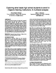 thumnail for Nunez_and_Bowers_2011_HS_Enrollment_in_HSIs.pdf