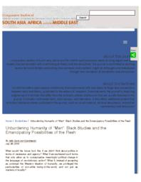thumnail for Unburdening_Humanity_of__Man___Black_Studies_and_the_Emancipatory_Possibilities_of_the_Flesh___CSSAAME.pdf