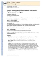thumnail for Klitzman_Views of PGD Among Psychiatrists and Neurologists.pdf