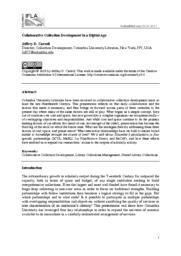 thumnail for CollaborativeCollectionDevelopmentInADigitalAge.pdf