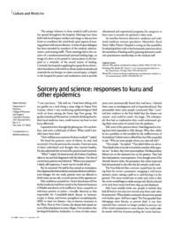 thumnail for Klitzman_Sorcery and Science_Responses to Kuru and Other Epidemics.pdf