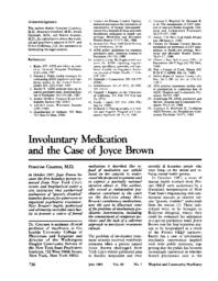 thumnail for Involuntary medication and the case of Joyce Brown.pdf