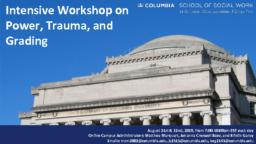 thumnail for Marquart Creswell Baez Garay_Intensive Workshop on Power Trauma and Grading_Day 1 & 2 Slides_ 8_2019.pdf