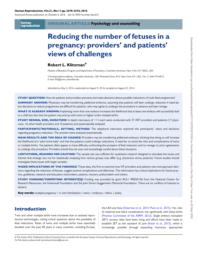 thumnail for Klitzman_Reducing the number of fetuses in a pregnancy.pdf