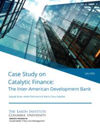 thumnail for Earth Institute - IDB Case Study on Catalytic Finance - July 2020.pdf