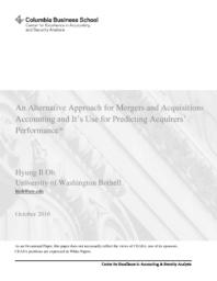 thumnail for An Alternative Approach for Mergers and Acquistions Accounting and Its Use for Predicting Acquirers.pdf