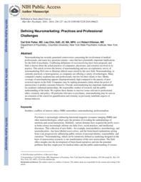 thumnail for Klitzman_Defining Neuromarketing.pdf