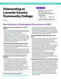 thumnail for redesigning-community-college-onboarding-guided-pathways-profile-laramie.pdf