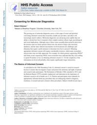 thumnail for Klitzman_Consenting for Molecular Diagnostics.pdf