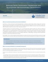 thumnail for Briefing-Note-Investment-Promotion-and-Facilitation-for-Sustainable-Development-FINAL.pdf
