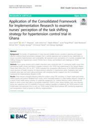 thumnail for Gyamfi et al. Task Shifting for Hypertension Control in Ghana - BMC HSR 2020.pdf