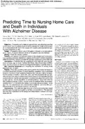 thumnail for Predicting time to nursing home care and death.pdf