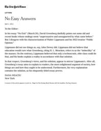 thumnail for No Easy Answers - The New York Times.pdf