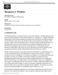 thumnail for Margaret J. Winkler – Women Film Pioneers Project.pdf