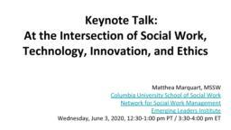 thumnail for Marquart_Network for Social Work Management Emerging Leaders Institute_keynote 2020.pdf
