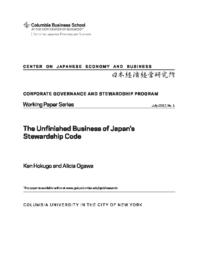 thumnail for CGWP #1.Ogawa & Hokugo.The Unfinished Business of Japan's Stewardship Code.pdf