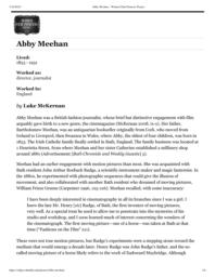 thumnail for Abby Meehan – Women Film Pioneers Project.pdf