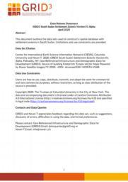thumnail for Data Release Statement GRID3 SSD Settlement Extents V1 Alpha.pdf