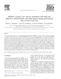 thumnail for Klitzman_MDMA (ecstasy) use, and its association with high risk behaviors, mental health, and other factors among gay-bisexual men in NYC.pdf