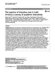 thumnail for Castro-2018-The practice of intensive care in.pdf
