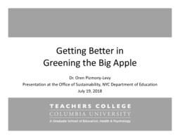 thumnail for Getting Better in Greening the Big Apple July 19 2018.pdf