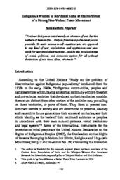 thumnail for 08 Indigenous Women of Northeast India at the Forefront of a Strong Non-Violent Peace Movement.pdf
