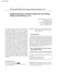 thumnail for Kristjansson et al. Implementing the Icelandic Model - HPP 2020.pdf