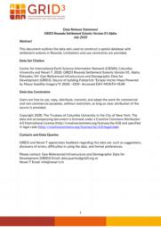 thumnail for Data Release Statement GRID3 RWA Settlement Extents V1 Alpha.pdf