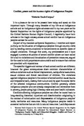 thumnail for 01 Conflict, peace and the human rights of Indigenous Peoples.pdf