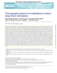 thumnail for Vanegas.2016.Brain.Tractography patterns of subthalamic nucleus.pdf