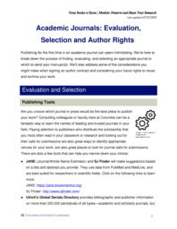 thumnail for Academic Journals_ Evaluation, Selection and Author Rights.pdf