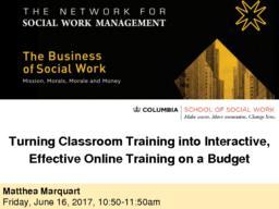 thumnail for Marquart_Turning Classroom Training into Online Training_NSWM28_6.16.17.pdf
