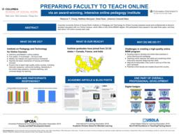 thumnail for Chung_Marquart_Ryan_Creswell Báez_Preparing Faculty to Teach Online via an Award-Winning Intensive Online Pedagogy Institute.pdf