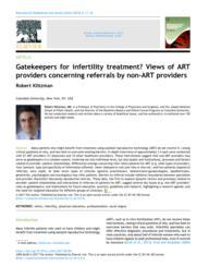 thumnail for Klitzman_Gatekeepers for infertility treatment.pdf