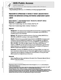thumnail for Martins_Racialethnic differences in trends in heroin use and heroin-related risk behaviors among nonmedical prescription opioid users..pdf