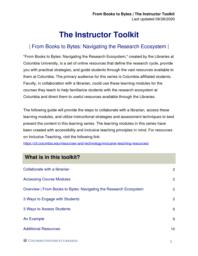 thumnail for The Instructor Toolkit.pdf