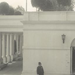 [White House, side entrance...