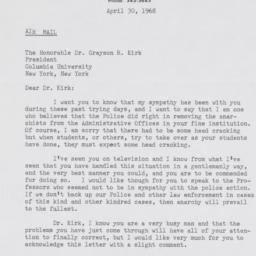 Letter from S.A. Barbour of...