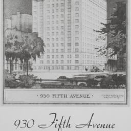 930 Fifth Avenue, Plan Of 1...