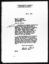 Letter from Barbara S. Burks to Samuel A. Stouffer, May 1, 1940